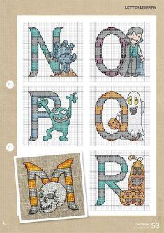 Cross Stitch Alphabet, Cross Stitch Patterns, Halloween Cross Stitches, Kids Rugs, Crafty, Comics, Art, Plastic Canvas, Gallery