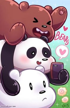 de imagem para fondos de pantalla de panda polar y pardo Cute Panda Wallpaper, Cartoon Wallpaper Iphone, Bear Wallpaper, Cute Disney Wallpaper, Kawaii Wallpaper, Iphone Cartoon, Trendy Wallpaper, We Bare Bears Wallpapers, Panda Wallpapers