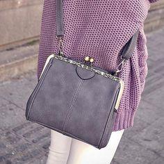 Simple Vintage Style Messenger Bag