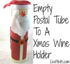 Santa Wine Bottle Tube Tutorial
