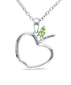 Another great find on #zulily! Sterling Silver & Peridot Apple Pendant Necklace #zulilyfinds