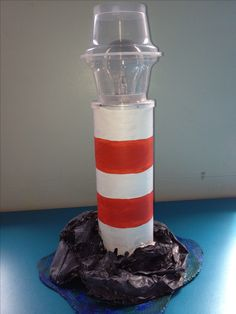 Make these using Pringles tube, incorporate circuits for working light. Lighthouse keepers lunch. Nicky Jevon Ledbury primary school.