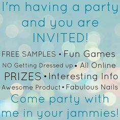 I want to have a party! Who wants to join me? Let's make it easy and fun. Manis for all the ladies! Let's do it!