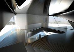Para este diseño, Zaha Hadid tomó como referencia el terreno montañoso del…