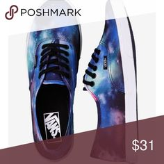 Galaxy Vans Shoes These shoes are Galaxy Vans . Women's shoes as well. They are very nice and comfortable . Can be worn with anything. Vans Shoes Sneakers
