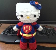 Ravelry: Super Kitty pattern by Thu Nguyen I love her Hello Kitty Super characters!