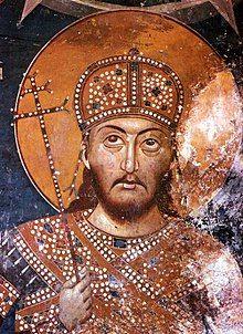 Tzar Stefan Uroš IV Dušan of Serbia, frescoe in monastery Lesnovo Tempera, Fresco, Art Eras, National History, Byzantine Art, Mural Painting, Paintings, Orthodox Icons, Medieval Art