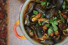 Mussels with Chorizo and Cherry Tomatoes Recipe