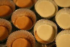 Mini Cherry Cheesecakes -- 2 pkg. of (8oz.) cream cheese softened to room temperature, 3/4 cup sugar, 3 eggs, 1 Tbsp vanilla, 1 Tbsp lemon juice ---- vanilla wafers, 2″ aluminum mini baking cups, Cherry Pie Filling