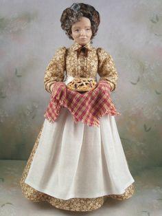 1:12th Dollhouse Miniature Victorian / Edwardian Woman Doll by Terri Davis | eBay