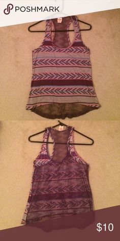 Lace back tank Lace back Aztec print tank Mossimo Supply Co Tops Tank Tops