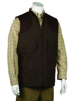 283f965c2b19 Bonart Gillie Quilted Gilet Gentlemans Quilted Bodywarmer with contrast collar  and leather shoulder patches two base