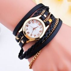 SHARE & Get it FREE | Faux Leather Braid Chain Bracelet WatchFor Fashion Lovers only:80,000+ Items • FREE SHIPPING Join Twinkledeals: Get YOUR $50 NOW!