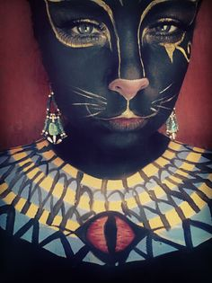 Bastet makeup- technique needs refining, but cool concept