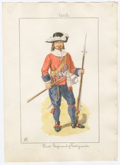 British; 1st Regiment of Foot Guards 1662 by Charles Lyall