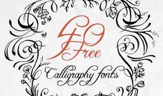 Kunst der Kalligraphie– 40 Gratis Schriften für kreatives Schreiben