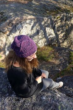 Ravelry: Hilltop pattern by Lina Knits / Pauliina Karru. The Hilltop hat begins with a familiar rib in the round, but takes a road less travelled to get to the top, by having a cable panel knit sideways as the body of the hat.