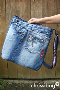 Jeanstasche - cool, groß, anders! - chrissibag