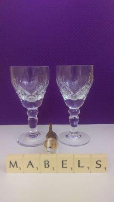 ROYAL BRIERLEY ~ELIZABETH~ sherry liqueur glasses x 2