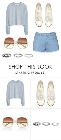 """"" by m2w8w8 on Polyvore featuring MANGO, H&M, Oliver Peoples, Forever 21 and Ally Fashion"