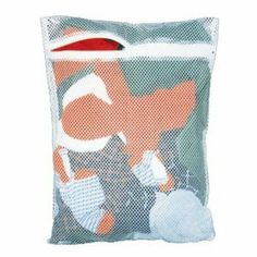 Mesh Zippered Laundry Bag - 14 x 18 inches by Whitney Designs. $2.99. 14 x 18 inches. Polyester. This durable white polyester mesh laundry bag prevents mildew in wet clothes and ensures against mixed or lost socks and underwear. The bag has a rust proof zipper. Size: 14 x 18 inches.