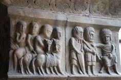 Cathédrale Sainte-Eulalie-et-Sainte-Julie à Elne,relieve romanico catalan frances,Roussillon,Francia