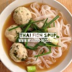 Thai Fish Noodle Soup Gluten Free, Dairy Free, Meat Free, Healthy, Immune Boosting, MS diet, Multiple Sclerosis