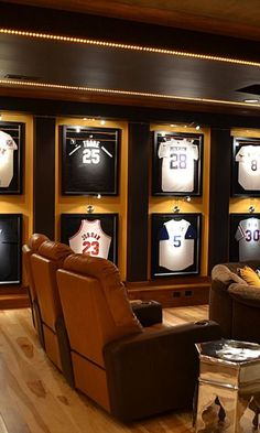 Creating the perfect Sports Man Cave includes adding modern Work Benches for entertaining. A place where you build the room around the beer and potato chips 46 Sports Man Caves to be Boss at Game Night - The Handy Guy Man Cave Bar, Man Cave Games, Man Cave Room, Man Cave Wall Decor, Man Cave Garage, Man Cave Basement, Garage Bar, Basement Bathroom, Man Cave Designs