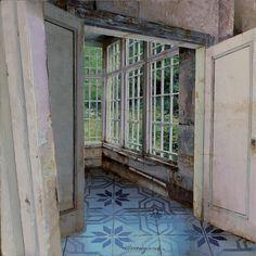 Matteo Massagrande, La stanza d'angolo, 2016, mixed media on board, 20 x 20 cm #contemporary #art #painting