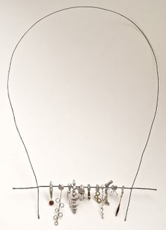 Liisa Hashimoto Necklace: Seed, 2010 Silver, brass, copper, stainless wire 18x15 cm