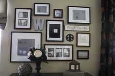 Picture frame wall!