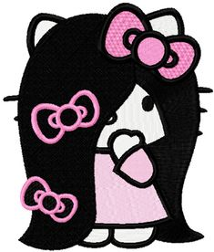 ee5920e15 Hello Kitty very long hair machine embroidery design Sanrio Hello Kitty, Hello  Kitty Art,
