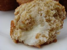 Banana Muffins with Cream Cheese Filling