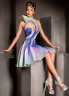 """Photo from album """"Blanka Matragi Haute Couture 2012 on Yandex. Love Fashion, Runway Fashion, High Fashion, Fashion Design, Short Dresses, Prom Dresses, Formal Dresses, Couture Collection, Beautiful Outfits"""