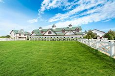 The grounds include an equestrian center, indoor ring, outdoor rings, grass ring, and barn lounge. Luxury Horse Barns, Horse Farms For Sale, Barn Layout, Horse Barn Designs, Thing 1, Horse Stables, My Dream Home, The Hamptons, Acre