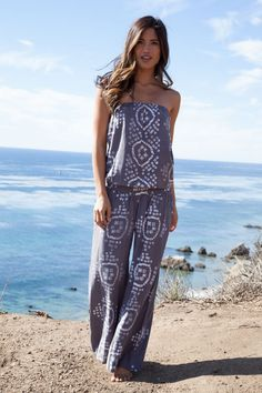 Cool Change Justine jumpsuit in shade/white