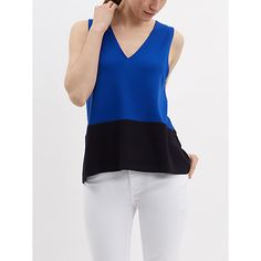 This would be very useful and would work well under jackets. Buy Jaeger Vest Top, Blue/Navy Online at johnlewis.com