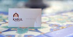 Kabul House Restaurant - business card Brand Identity, Branding, House Restaurant, Business Cards, Place Cards, Place Card Holders, Visit Cards, Carte De Visite, Identity Branding