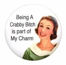 bein a bitch is ma charm..vintage button