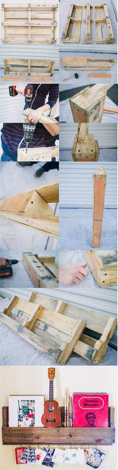 Estanterías DIY con un palé - thekindredstreet.com - DIY Pallet Shelves