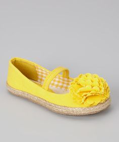 http://www.zulily.com/invite/vhanson979Take a look at this Yellow Lulu Strap Flat - Kids by Launch on #zulily today!