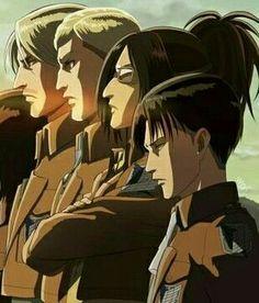 Mike x Erwin x Hanji x Levi