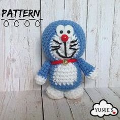 Learn how to make a Doraemon A quick and easy free crochet pattern #amigurumi #crochet #freecrochetpattern #crochetpattern #diy #handmade