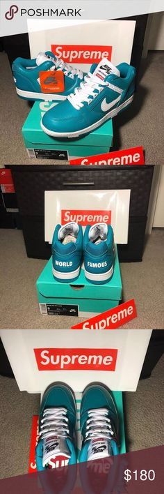 64de0df3944 Supreme Air Force 2s New and Authentic Deadstock Nike SB Air Force 2 Low  Supreme Color