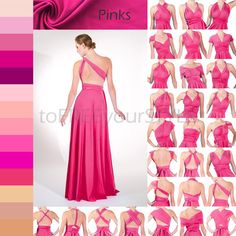 Long infinity dress in PINKS FULL Free-Style by toFREEyourSTYLE