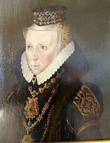 Güstrow Schlossmuseum - Elisabeth von Dänemark.jpg; Princess of Denmark, wife of 2nd husband, Ulrich III, Duke of Mecklenburg-Gustrow and mother of Duchess Sophie.