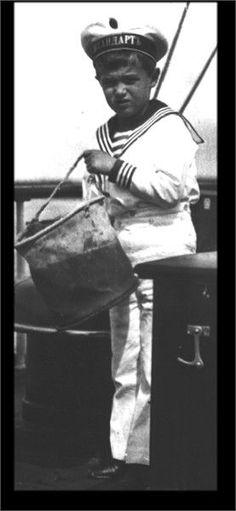 Hard working little sailor. alexei, probably on the Standart
