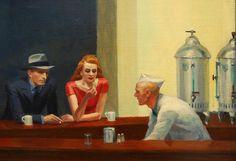 Nighthawks (1942) - Detail - Edward Hopper (1882 - 1967) | Flickr - Photo Sharing!