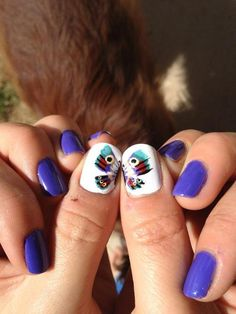 lovelymugglenails:    Butterfly Nails