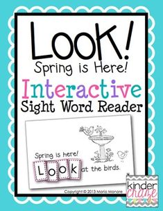 """This is an emergent reader to provide students with an opportunity to learn to read and spell the sight word """"look"""" in a hands-on way. Sight Word Readers, Sight Word Games, Sight Word Activities, Sight Words, Reading Response Activities, Reading Tips, Scramble Words, Emergent Readers, Spring Is Here"""